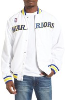 Mitchell & Ness Men's Golden State Warriors Tailored Fit Warm-Up Jacket
