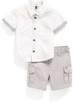Armani Junior Infant Boy's Sport Shirt & Cargo Shorts Set