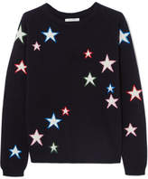 Chinti and Parker 3d Star Intarsia Cashmere Sweater - Navy