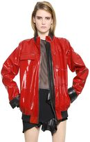 Anthony Vaccarello Nappa & Patent Leather Jacket