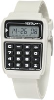 Vestal Men's DAT010 Datamat Pewter Digital Calculator Watch