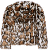 Moschino Cropped Leopard-print Faux Fur Coat - Leopard print