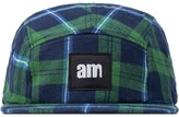 After Midnight Nyc Green Am Logo (White Label) Flannel Camp Cap