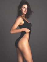 Olympia Theodora Body Lover Suit in Black as seen on Kendall Jenner