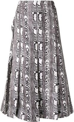 Marni Zebra Print Pleated Skirt