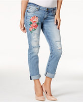 KUT from the Kloth Embroidered Catherine Excellency Wash Boyfriend Jeans