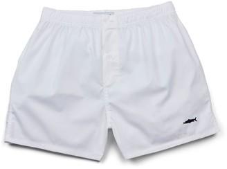 Fleet London Men's White Boxer Short
