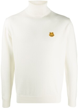 Kenzo Tiger Patch Roll-Neck Jumper