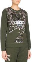 Kenzo Geo Tiger Relaxed Sweatshirt, Olive