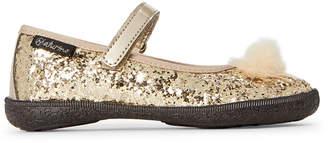 Naturino Toddler/Kids Girls) Gold Glitter Mary Jane Flats