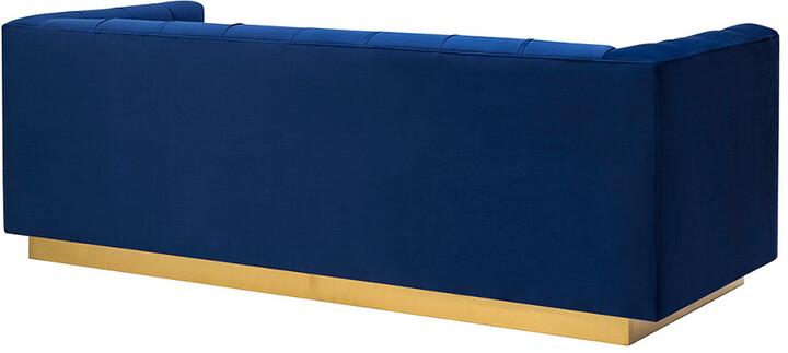 Thumbnail for your product : Tov Roma Navy Velvet Sofa