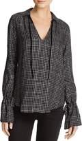 Paige Calissa Metallic Plaid Shirt