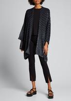 eskandar Velvet-Checkered Open-Front Jacket