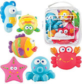 "Elegant Baby 6-Piece ""Lagoon Party"" Bath Squirties"