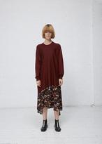 Jil Sander dark red wrap around sweater
