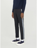 Sandro Striped tapered wool trousers