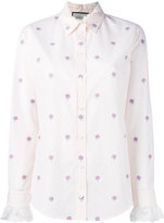 Gucci GG micro rose grid shirt - women - Cotton - 42