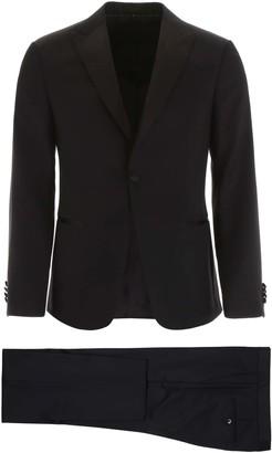 Ermenegildo Zegna TWO-PIECE TUXEDO 46 Black Wool