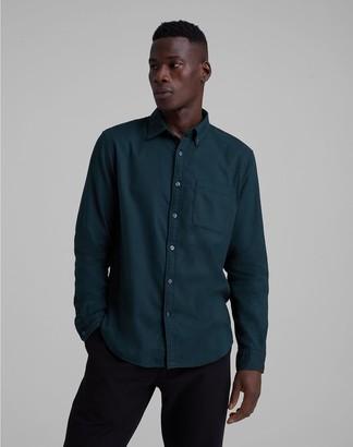 Club Monaco Slim Solid Flannel Shirt