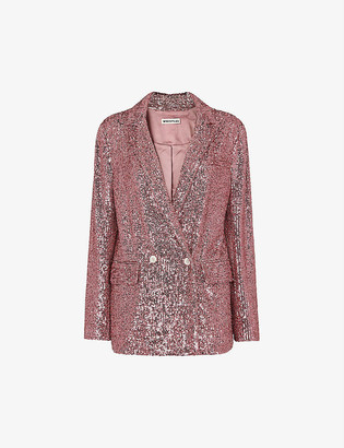Whistles Sequinned double-breasted blazer