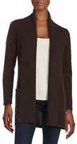 Lord & Taylor Petite Open-Front Cashmere Sweater