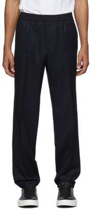 Salvatore Ferragamo Navy Tailored Trousers
