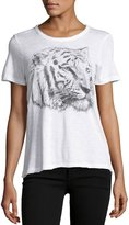 Chaser Sketched Tiger Graphic Tee, White