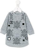 Little Marc Jacobs embellished sweatshirt dress