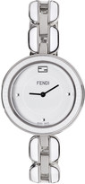 Fendi Silver and White My Way Fur Glamy Watch