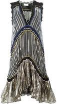 Peter Pilotto metallic striped flared dress - women - Silk/Spandex/Elastane/Viscose - XS