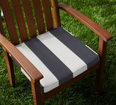 Pottery Barn Sunbrella®; Piped Outdoor Dining Chair Cushion - Stripe