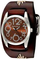 Nemesis Women's 'Showgirl Series' Quartz Stainless Steel and Leather Watch