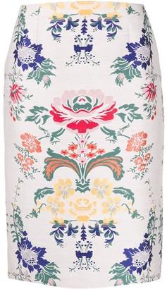 Steffen Schraut Floral-Print Midi Skirt