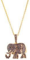 Rarities Gold Plated Sterling Pave Smoky Quartz Elephant Pendant Necklace $820