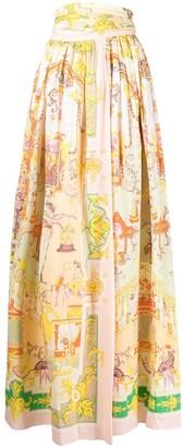 Etro Graphic-Print High-Waisted Skirt