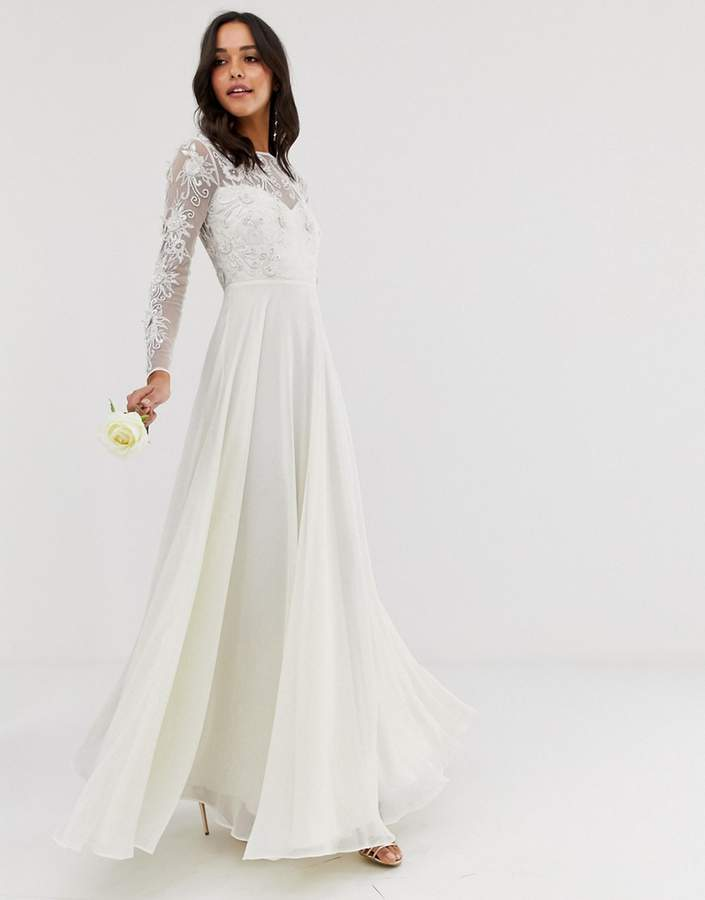 43d10abd739 Asos White Wedding Dresses - ShopStyle