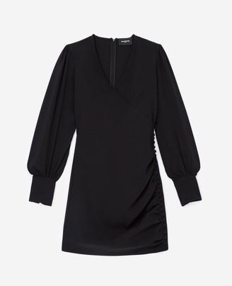 The Kooples Flowing satin black dress