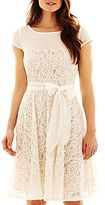 JCPenney Danny & Nicole® Lace Dress with Sash Tie