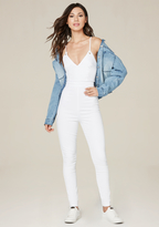 Bebe Back Lace Up Catsuit