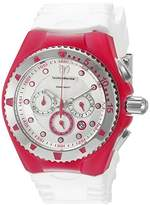 Technomarine Women's Quartz Watch with Silver Dial Chronograph Display and White Silicone Strap TM-115238
