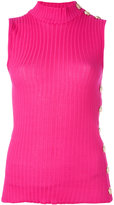 Balmain ribbed tank top - women - Cotton - 34