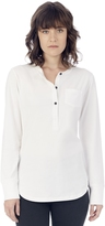Alternative Long Sleeve Organic Pima Cotton Henley w/Pocket