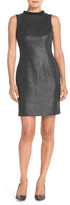 Andrew Marc Foiled Tweed Sheath Dress