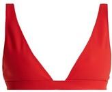 Rochelle Sara The Enga V-neck Bikini Top - Womens - Red