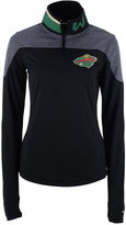 Reebok Women's Minnesota Wild Performance Quarter-Zip Pullover