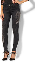 New York & Co. Soho Jeans - Embellished High-Waist Legging - Black