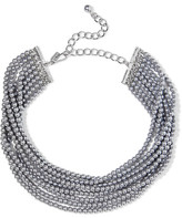 Kenneth Jay Lane Rhodium-plated Faux Pearl Choker - Silver