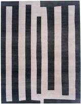 Warp & Weft - Bars Slate Wool Rug