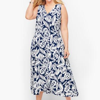 Talbots Jersey Faux Wrap Maxi Dress