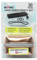 Scunci Metallic Fabric Hair Emergency Kit 30ct.